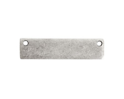 Nunn Design Antique Silver (plated) Flat Small Horizontal Rectangle Tag 32x8mm
