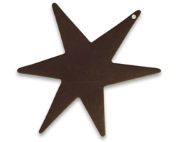 Vintaj Natural Brass Large North Star Altered Blank 37x47mm