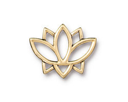 TierraCast Antique Gold (plated) Open Lotus Link 23x19mm