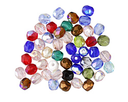 Czech Glass Carousel AB Fire Polished Round 4mm