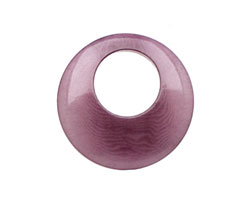 Tagua Nut Violet Gypsy Hoop 25mm