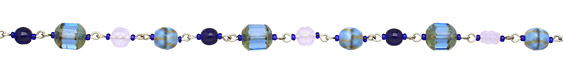 Czech Glass A Walk In the Clouds Silver (plated) Bead Chain