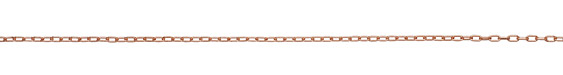 Rose Gold (plated) Drawn Cable Chain