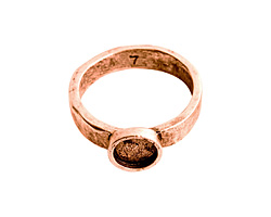 Nunn Design Antique Copper (plated) Hammered Itsy Circle Ring Size 7