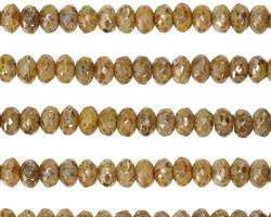 Czech Glass Metallic Bisque Fire Polished Rondelle 3x5mm