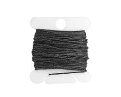 Charcoal Grey Irish Waxed Linen 4 ply