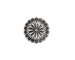 Zola Elements Antique Silver (plated) Aster Disc 7mm Flat Cord Slide 19mm