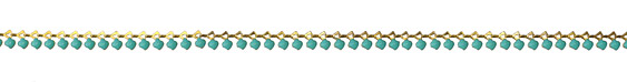 Zola Elements Turquoise Petal Drop Brass Chain