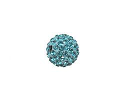 Aquamarine Pave Round 12mm (1.5mm hole)
