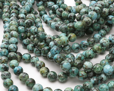African Turquoise (A) Round 8.5-9mm