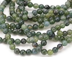 Moss Agate Round 6-6.5mm