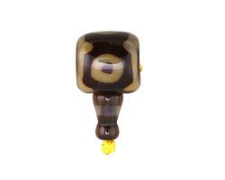 Tibetan (Dzi) Agate Barrel Guru Bead 15-16mm