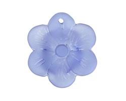 Light Sapphire Recycled Glass 6 Petal Flower 29mm