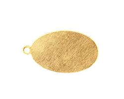Brass Oval Blank Pendant 16x28mm