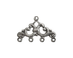 Nunn Design Antique Silver (plated) Filigree Chandelier 16.5x24.5mm