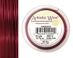 Artistic Wire Magenta 22 gauge, 15 yards