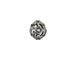 Zola Elements Antique Silver (plated) Floral Filigree Round 12mm