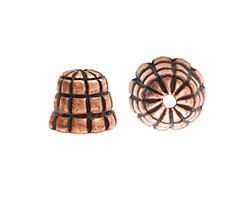 Nunn Design Antique Copper (plated) Sea Hive Bead Cap 10x12mm