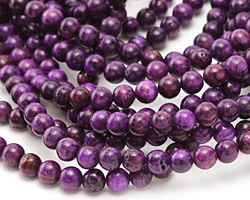 Purple Crazy Lace Agate Round 6mm