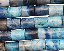 Brazil Blue Agate Barrel 10x8mm