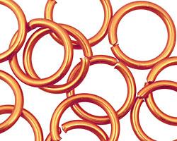 Orange Anodized Aluminum Jump Ring 18mm, 12 gauge (13.1mm inside diameter)