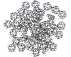 Czech Glass Silver Bali Style Daisy Spacer 2x5mm