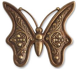 Vintaj Natural Brass Baroque Butterfly 55mm
