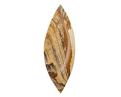 Picture Jasper Large Horse Eye Pendant (large hole) 31x84-89mm