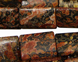 Leopardskin Jasper Thin Pillow 20x15mm