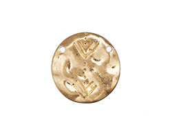 Zola Elements Matte Gold (plated) Hammered Aztec Coin Focal Link 18mm