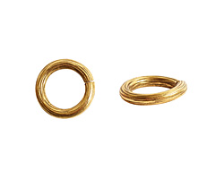 Nunn Design Antique Gold (plated) Etched Jump Ring 12mm
