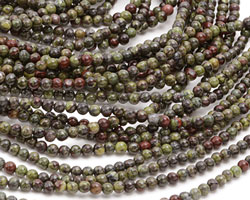 Dragon Blood Jasper Round 3mm