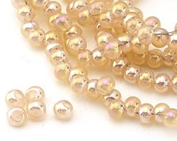 Antique Opal AB Crystal Nugget Rondelle 6mm
