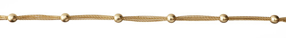 Satin Hamilton Gold (Plated) Multi-Strand Curb Satellite Chain
