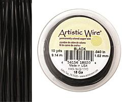 Artistic Wire Black 18 gauge, 10 yards