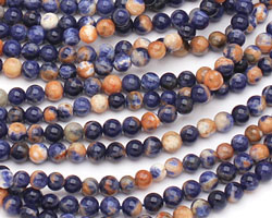 Orange Sodalite Round 4mm