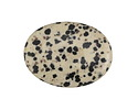 Dalmatian Jasper Flat Oval 40x30