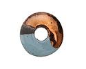 Greek Ceramic Raku Metallic Frosted Copper Spacer Disc 20mm