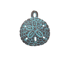Greek Copper (plated) Patina Sand Dollar Charm 20mm