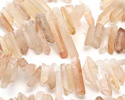 Natural Orange Crystal Points Focal Set 4-8x17-40mm