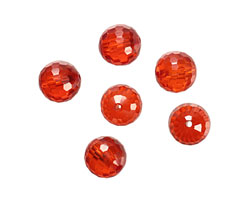 Poppy Faceted Round 10mm