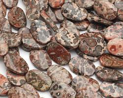 Leopardskin Jasper Twisted Oval 20x13mm