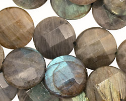 Labradorite Faceted Coin 16mm