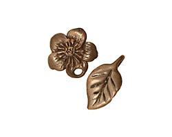 Green Girl Shibuichi Rose Blossom Clasp