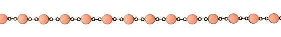 Zola Elements Ripe Peach Coin Link Brass Chain