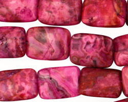 Ruby Crazy Lace Agate Thin Pillow 16x12mm