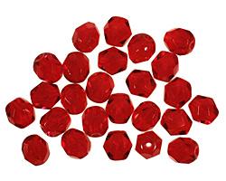 Czech Fire Polished Glass Ruby Round 6mm