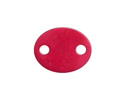 Tagua Nut Hot Pink Oval Link 24x19mm