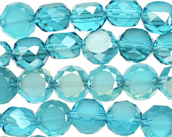 Luster Caribbean Crystal Faceted Table Cut Coin 10mm