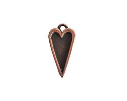 Nunn Design Antique Copper (plated) Mini Heart Bezel Pendant 10x20mm